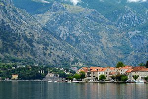 View of town Prcanj, Montenegro