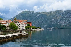 Bay of Kotor near town Prcanj