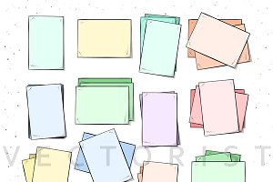 Sheet. Isolated paper sheets