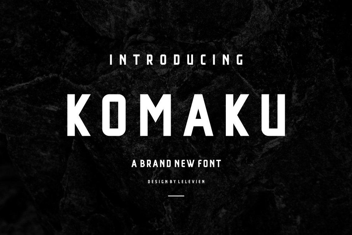 Komaku - Sans Serif Font