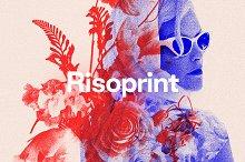 Risoprint - Risograph Grain Effect by  in Graphics