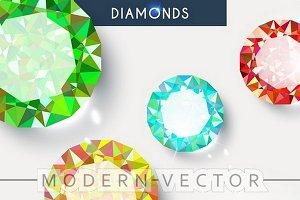 Background with shiny diamonds