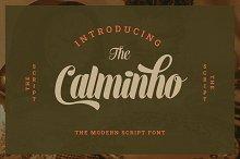 Calminho Bold Script Font by  in Fonts