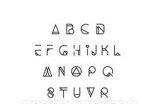 Modern, trendy hipster font