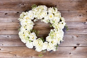 White Flowers forming Wreath