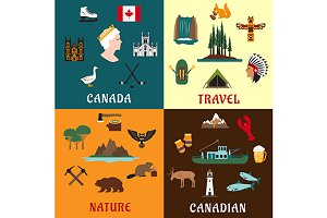 Canadian travel symbols
