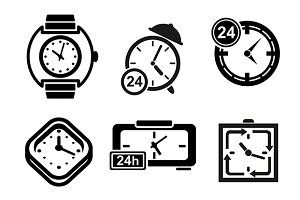 Clock and timer icons