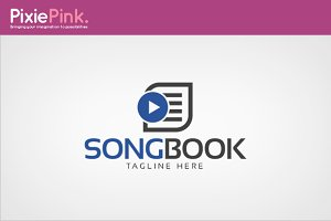 Song Book Logo Template