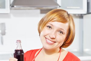 Woman with cola