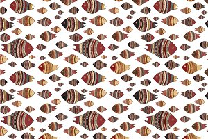"Seamless pattern ""Fishes"""