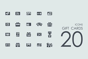20 Gift Cards icons
