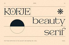 KOFJE - Beauty Serif Fonts by  in Fonts