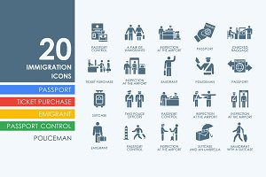 20 Immigration icons