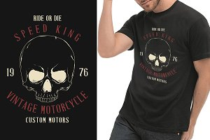 Speed king t-shirt graphic