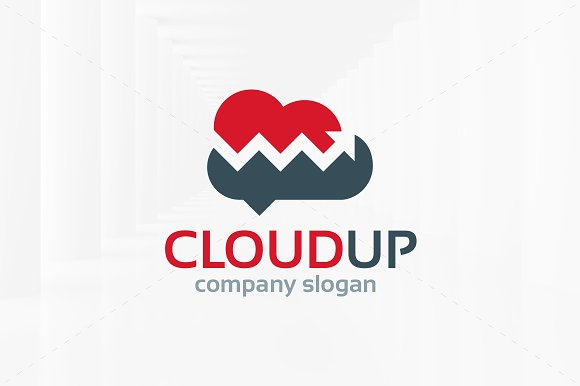 Cloud Up Logo Template