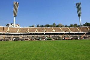 Construction of the stadium