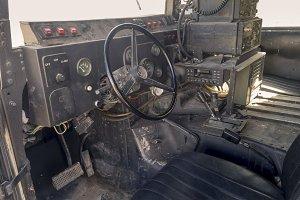 Inside the Humvee