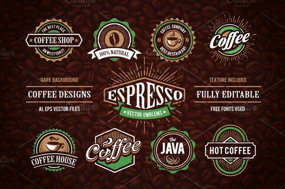 Retro Coffee Emblems #1