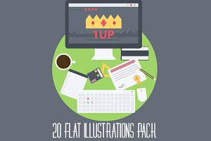 20 Flat illustrations