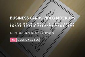 5 Business Cards Mock-Ups in 4K