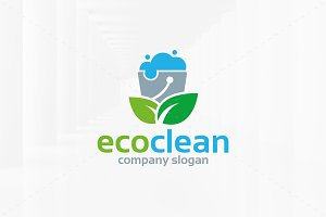 Eco Clean Logo Template