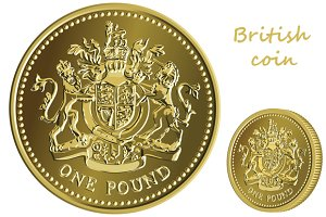 British money gold coin one pound