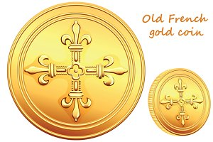 Old French gold coin