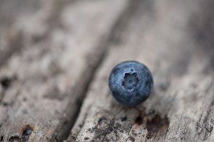 Blueberry on a wooden background