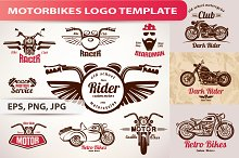 Set of Motorcycles Logo Templates