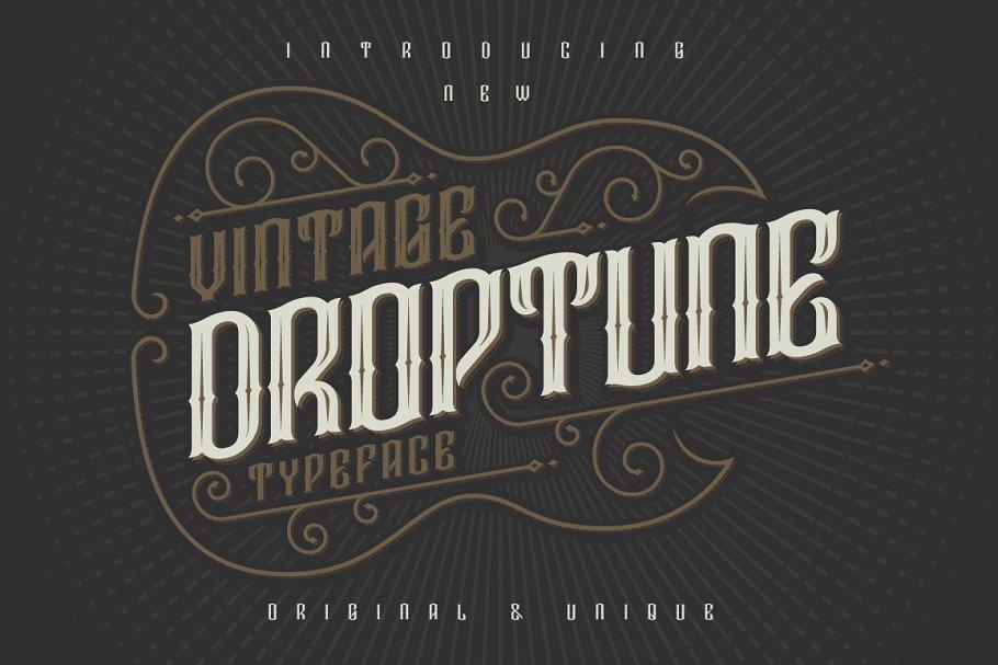 Droptune typeface