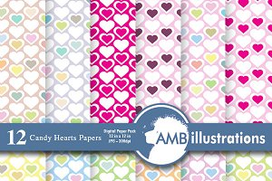 Valentines Digital Papers AMB-328