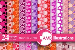 Valentines Digital Papers AMB-330