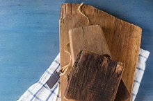 Set of wooden chopping boards