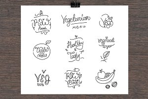 Vegetarian food lables