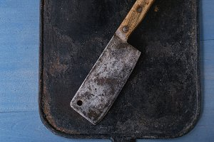 Vintage butcher cleaver