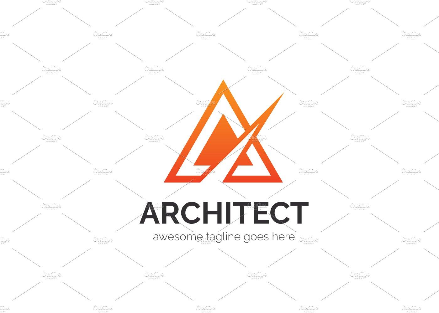 Architect letter a logo logo templates creative market for Architecture logo