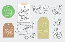 Vegetarian food labels.