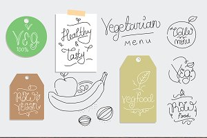 Vegetarian food labels.