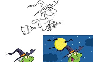 Witch Cartoon Character Collection