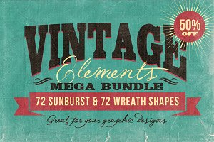 Vintage Elements Bundle (60% OFF)