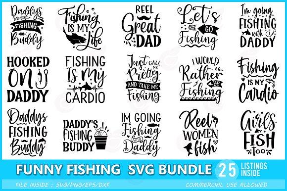 Download Funny Fishing Svg Bundle Pre Designed Illustrator Graphics Creative Market