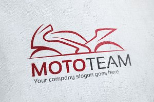 Moto Team Motorcycle Logo
