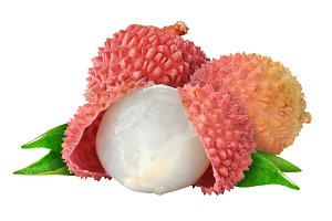 Lychee fruits isolated