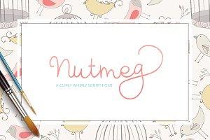 Nutmeg - Script Font
