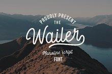 Wailer Monoline Script Font by  in Fonts