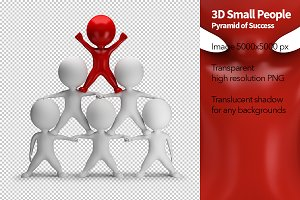 3D Small People - Pyramid of Success