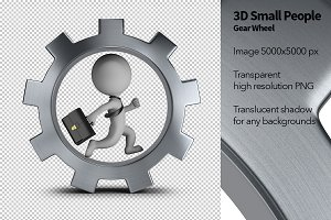 3D Small People - Gear Wheel