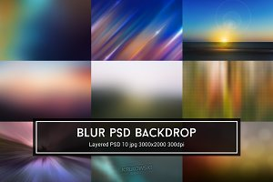 Blur PSD Backdrop