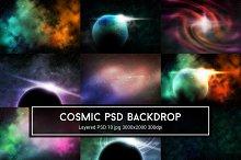 Cosmic Nebula PSD Backdrop