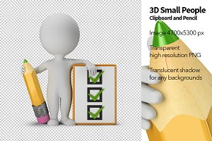 3D Small People - Clipboard